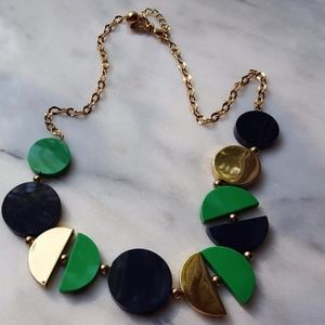 Kate Spade New York Necklace Green Blue Gold Clasp